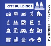 city buildings icons | Shutterstock .eps vector #444884203