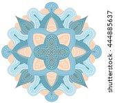 abstract wavy line vector...   Shutterstock .eps vector #444885637