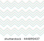 pastel mint and pink chevron... | Shutterstock .eps vector #444890437