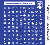 information technology icons | Shutterstock .eps vector #444895357