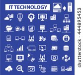 it technology icons | Shutterstock .eps vector #444895453