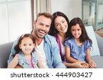 portrait of parents smiling... | Shutterstock . vector #444903427