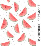 watermelon pattern | Shutterstock .eps vector #444916447