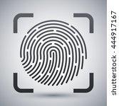 vector fingerprint scanning... | Shutterstock .eps vector #444917167