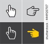 finger icon  hand  finger... | Shutterstock .eps vector #444920707