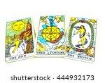 Tarot Card On Isolated...