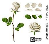 realistic vector elements set... | Shutterstock .eps vector #444934033