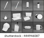 blank stationery set for... | Shutterstock . vector #444946087