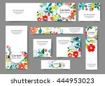 set of abstract web banner...