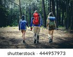 trek hiking destination... | Shutterstock . vector #444957973
