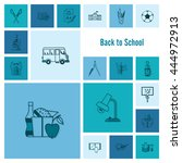 school and education icon set.... | Shutterstock . vector #444972913