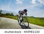 asian men are cycling road bike ... | Shutterstock . vector #444981133