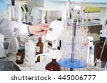 chemical laboratory background.... | Shutterstock . vector #445006777