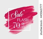 special flash sale 70  off sign ... | Shutterstock .eps vector #445063777