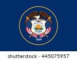 vector image of  utah state... | Shutterstock .eps vector #445075957