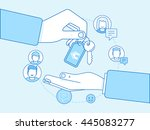vector illustration in trendy... | Shutterstock .eps vector #445083277
