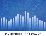 abstract finance background.... | Shutterstock . vector #445101397