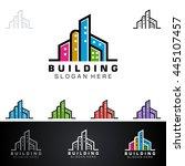 real estate vector logo design  ... | Shutterstock .eps vector #445107457