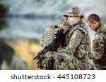 british special forces soldiers ... | Shutterstock . vector #445108723