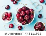 Fresh Ripe Black Cherries In A...