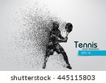 Silhouette Of A Tennis Player...