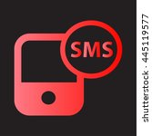 smartphone sms icon.
