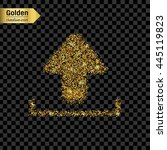 gold glitter vector icon of...