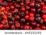 Red Cherry Background.  Red...