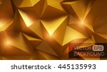 beautiful gold abstract...   Shutterstock .eps vector #445135993