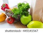 cooking  diet  vegetarian food... | Shutterstock . vector #445141567