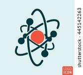 atom icon isolated. model of...