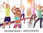 fitness  sport  dance and... | Shutterstock . vector #445154593