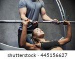 sport  fitness  teamwork ... | Shutterstock . vector #445156627