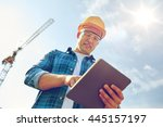 business  building  industry ... | Shutterstock . vector #445157197