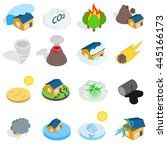 natural disaster catastrophe...   Shutterstock .eps vector #445166173