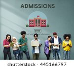 bachelors degree admission... | Shutterstock . vector #445166797