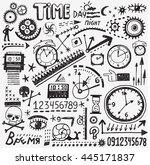 time doodles | Shutterstock .eps vector #445171837