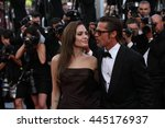 cannes   may 16  2011  angelina ... | Shutterstock . vector #445176937