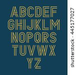 Vector Alphabet Set. Double Font