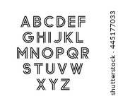 vector alphabet set. double font | Shutterstock .eps vector #445177033