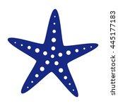 starfish vector icon. summer ... | Shutterstock .eps vector #445177183