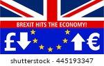 british pound falls against... | Shutterstock . vector #445193347