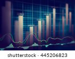stock market or forex trading... | Shutterstock . vector #445206823