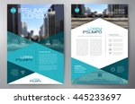 business brochure flyer design... | Shutterstock .eps vector #445233697