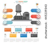 industry info graphic design on ... | Shutterstock .eps vector #445239343