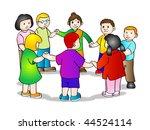 illustration of multicultural... | Shutterstock . vector #44524114