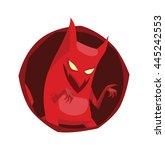 vector image of a round dark... | Shutterstock .eps vector #445242553