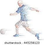 abstract soccer player made... | Shutterstock .eps vector #445258123