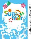 the summer poster | Shutterstock .eps vector #445260097