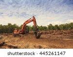 deforestation  borneo tropical...   Shutterstock . vector #445261147